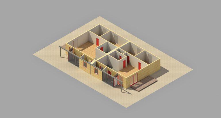 BADER - Isometrie NEUBAU ohne Dach (Rendering)